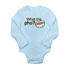 What the Pho Long Sleeve Infant Bodysuit