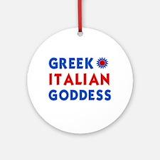 Italian Greek Goddess Ornament (Round)