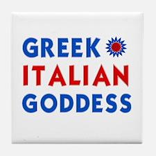Italian Greek Goddess Tile Coaster