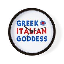 Italian Greek Goddess Wall Clock