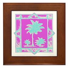 Lilly Palms  Framed Tile