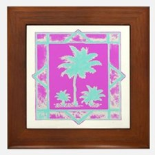 Lilly Palms  Framed Tile