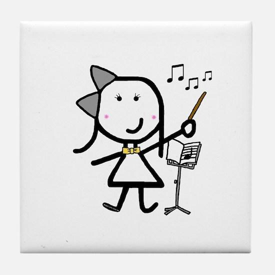 Girl & Conductor Tile Coaster