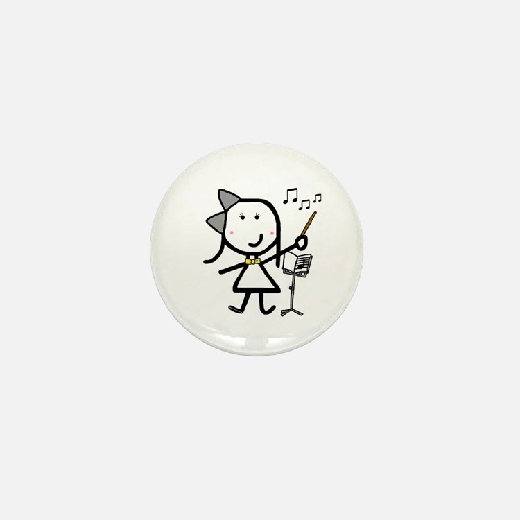 Girl & Conductor Mini Button