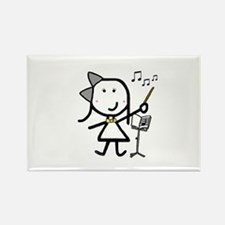 Girl & Conductor Rectangle Magnet