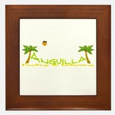 Cute Anguilla Framed Tile