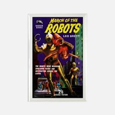 March of the Robots Rectangle Magnet