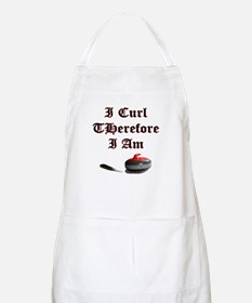 I Curl Therefore I Am BBQ Apron