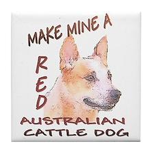 Make Mine A Red Tile Coaster