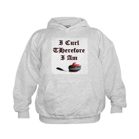 I Curl Therefore I Am Kids Hoodie