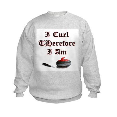 I Curl Therefore I Am Kids Sweatshirt