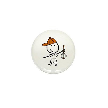 Boy & Banjo Mini Button