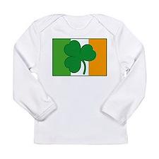 Shamrock Ireland Flag Long Sleeve Infant T-Shirt