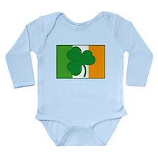 Shamrock Ireland Flag Long Sleeve Infant Bodysuit