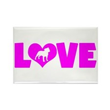 LOVE STAFFORDSHIRE Rectangle Magnet