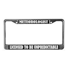 Meterologist License Frame