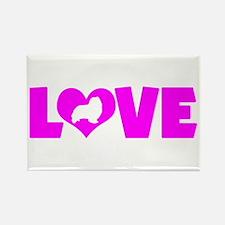 LOVE SHELTIE Rectangle Magnet (10 pack)