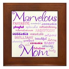 Marvelous Mom (Mother) Framed Tile