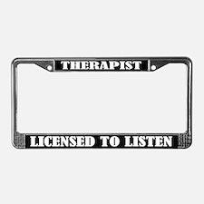 Therapist License Frame