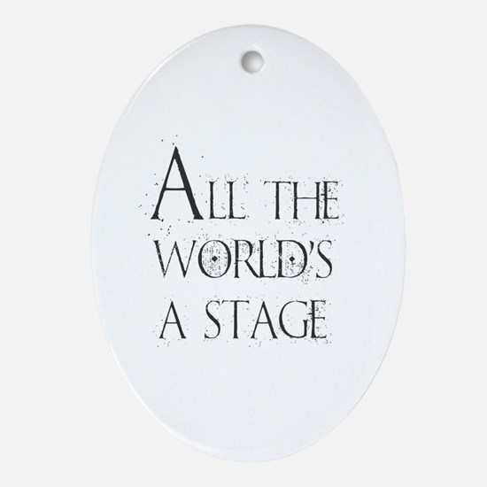 Cute Musical theater Oval Ornament