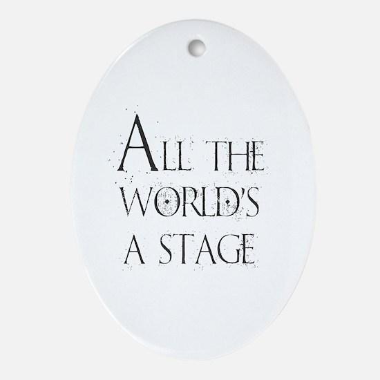 Unique Musical theatre Oval Ornament