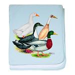 Duck Quartet baby blanket