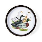 Duck Quartet Wall Clock