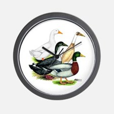 Duck Quartet Wall Clock