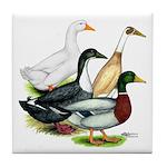 Duck Quartet Tile Coaster