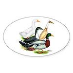 Duck Quartet Sticker (Oval 50 pk)