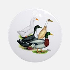 Duck Quartet Ornament (Round)