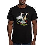 Duck Quartet Men's Fitted T-Shirt (dark)