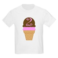Cute Girls I'm Two Birthday T-Shirt