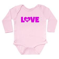 LOVE CRABS Long Sleeve Infant Bodysuit