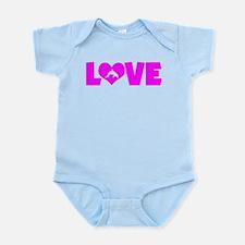 LOVE DOLPHINS Infant Bodysuit