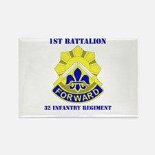 DUI - 1st Bn - 32nd Infantry Regt with Text Rectan