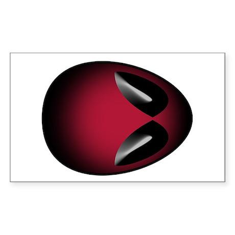 red alien head Rectangle Sticker