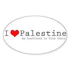 I love Palestine (heart) Decal