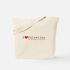 I love Palestine (heart) Tote Bag