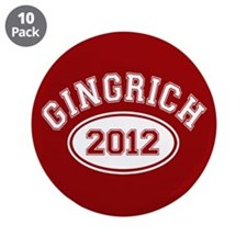 """Gingrich 2012 3.5"""" Button (10 pack)"""