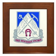 DUI - 2nd Bn - 87th Infantry Regt Framed Tile