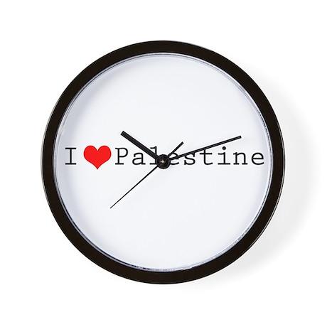 I (lheart) Palestine Wall Clock