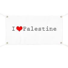 I (lheart) Palestine Banner