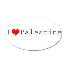 I (lheart) Palestine 22x14 Oval Wall Peel