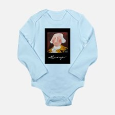 Funny President Art Long Sleeve Infant Bodysuit