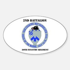 DUI - 2nd Bn - 30th Infantry Regt with Text Sticke