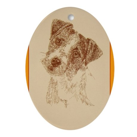 Jack Russell Terrier Rough Ornament (Oval)
