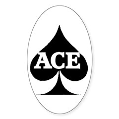 ACE Sticker (Oval)