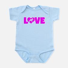 LOVE SCHNAUZER (STANDARD) Infant Bodysuit