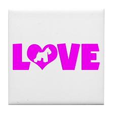 LOVE SCHNAUZER (MINIATURE) Tile Coaster